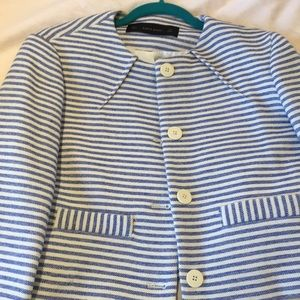 Zara blazer size L New without tags blue and white
